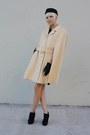 Cream-vintage-coat-black-vintage-dress-black-forever-21-shoes-black-h-m-ha