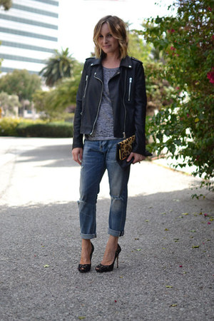 boyfriend citizens of humanity jeans - Forever 21 jacket - monrow shirt