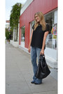 Navy-flared-7-for-all-mankind-jeans-black-gucci-bag-black-forever-21-top