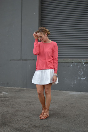 JCrew skirt - Forever 21 sweater - JCrew sandals
