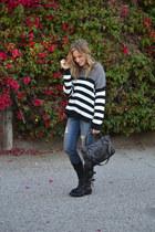 motorcycle Fiorentini baker boots - rag & bone jeans