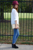 Wanted boots - Nordstrom jeans - Target hat - hello fab bag