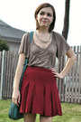 Light-brown-asos-top-silver-thrifted-necklace-red-urban-outfitters-skirt-g