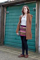 light brown modcloth coat - brown Topshop shoes