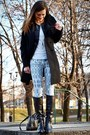 Black-no-name-boots-black-zara-coat-black-stradivarius-jacket