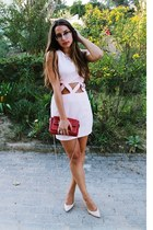 light pink cut out AX Paris dress