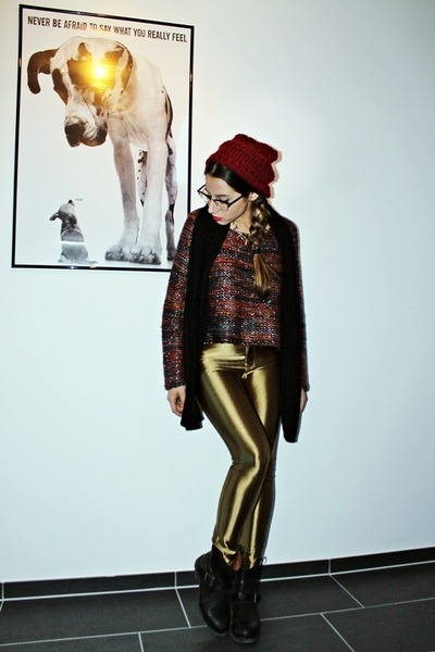 gold disco pants Liquorice Boutique pants