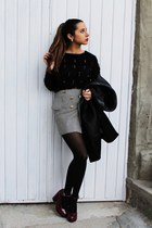 peplum Chicwish skirt - Wholesale-Dress shoes - leather Zara coat