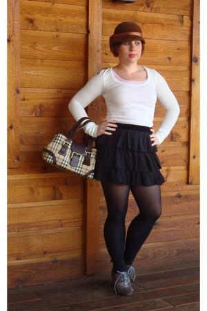 forever 21 shirt - Erin Fetherston for Target skirt - Target tights - delias sho