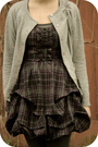 Silver-thrift-cardigan-purple-charlotte-russe-dress-black-rue-21-shoes-bla
