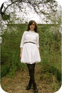 White-thrift-dress-black-hue-tights-black-modcloth-boots-black-goodwill-co