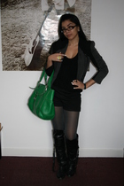 gray Miss Selfridges blazer - black Primark shorts - green Cole Haan purse - Pri