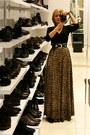 Tawny-leopard-print-handmade-skirt-black-etam-blouse-black-vintage-belt