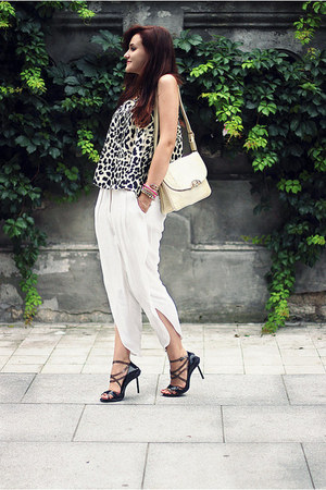 white printed asos top - black Jean Paul Gaultier x Melissa shoes