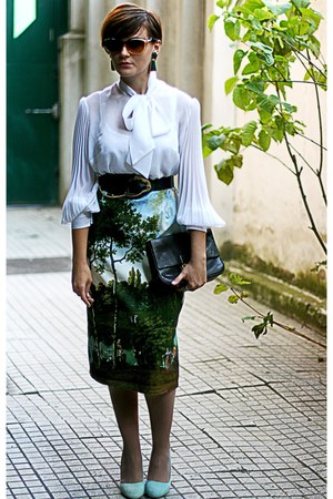 vintage shirt - Primark shoes - vintage Moschino skirt