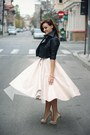 Nude-zara-shoes-black-cropped-asos-jacket-light-pink-midi-h-m-skirt