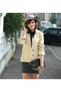 Black-suede-forever-21-shoes-beige-vintage-blazer-white-sheer-miss-selfridge