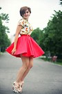 Red-river-island-skirt-white-printed-zara-top-floral-print-oasap-wedges