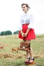 Navy-jeffrey-campbell-shoes-brown-suede-vintage-bag-red-river-island-skirt-