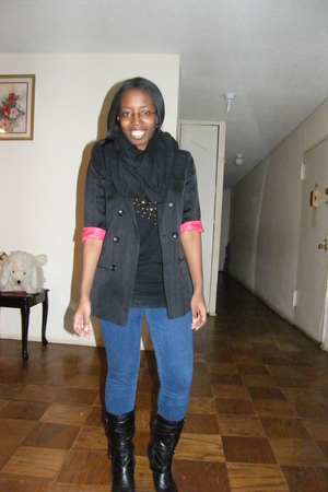 black American Apparel accessories - Forever 21 shirt - black Topshop blazer - b