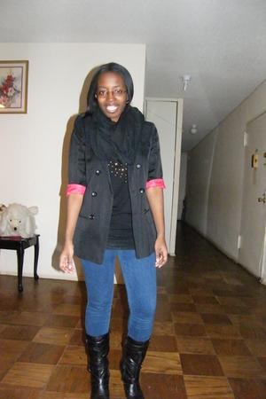 black American Apparel accessories - Forever 21 shirt - black Topshop blazer - b