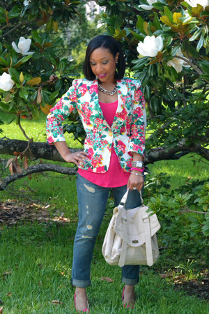 Zara blazer - boyfriend Forever 21 jeans - tank Forever 21 top - Aldo pumps