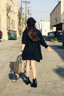 Vintage-jacket-ankle-boots-dolcetta-boots-brandy-melville-dress