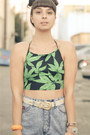 Crop-top-leaves-motel-rocks-top-heels-miista-shoes-acid-wash-vintage-shorts