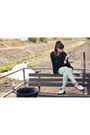 Black-sheer-zio-blouse-white-low-top-dr-martens-shoes-mint-forever21-pants