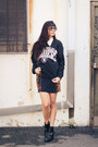 Ankle-dolcetta-boots-la-raiders-vintage-sweater-chanel-sunglasses