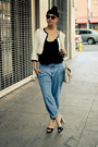 Baggy-urban-outfitters-jeans-forever21-jacket-melie-bianco-bag