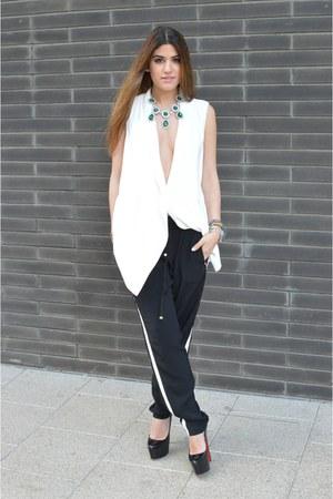 Zara vest - Christian Louboutin pumps - black pants Primark pants