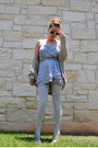 Heather-gray-cotton-ambiance-apparel-dress-beige-knitted-zara-sweater-silver