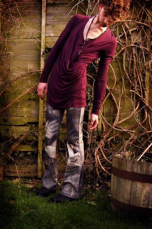 purple Bolongaro Trevor top - black Maide Madmoiselle jeans