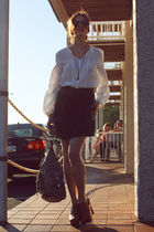 Rebecca Minkoff bag - IRO blouse - Society for Rational Dress skirt - Neverland