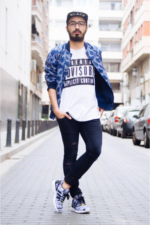 bomber asos jacket - H&M jeans - Primark t-shirt - Adidas sneakers