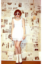 ivory Chicwish dress - off white Primark socks - white Urban Outfitters glasses