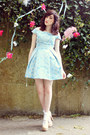 light blue debutante style Topshop dress