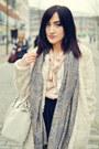 Ivory-h-m-coat-sky-blue-blue-scarf-vintage-scarf-off-white-h-m-bag