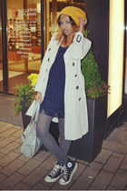Converse shoes - H&M dress - Zara coat - Guess bag