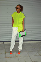 Monki shirt - Zara shoes - H&M purse - Monki pants