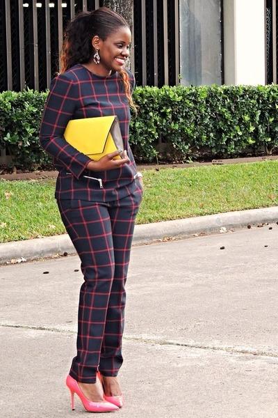 tawny Zara blouse - bag - Zara pants - Nine West pumps