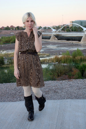 brown JCPenney dress - dark brown Blowfish Shoes boots