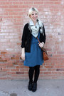 Black-blowfish-shoes-boots-blue-madwell-dress-black-we-love-colors-tights