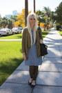 Blue-levis-dress-black-coach-purse-dark-brown-levis-socks