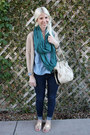 Blue-levis-jeans-light-blue-levis-shirt-teal-levis-scarf-beige-coach-purse