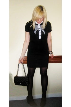 Chanel lambskin 255 accessories - thrifted shirt - H&M skirt - vintage shoes - H