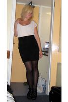 H&M blouse - H&M skirt - Primark tights - Newlook shoes