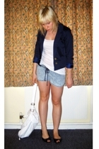 H&M blazer - H&M top - American Apparel shorts - Office shoes - Dorothy Perkins