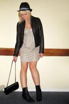 vintage dress - H&M jacket - vintage boots - Primark hat - Chanel lambskin 255 a